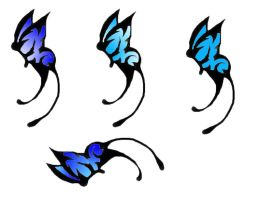 Butterfly Tattoos III by All-shall-fade