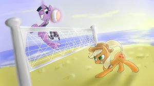 Twi and aj haz a game of volleyball by Animeculture