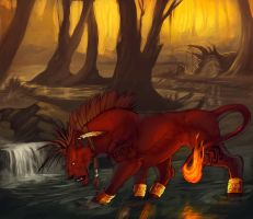 RedXIII-Commission- by RogueLiger