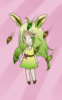 Leafeon gijinka by tamisise
