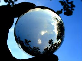 blue sky in crystal ball by April-Mo