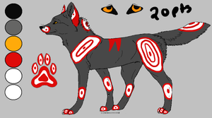 Wolf Adoptable ref (Points) by AStolenRelic
