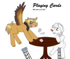 America and Olaf playing cards by bananna108
