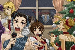 Merry Street Fighter Christmas by Arwencilla