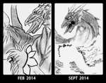 Dragonos - improvement meme by blekimaru