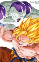 goku vs freezer ecene by lorddeimons