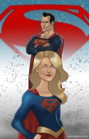 Man and Girl of Steel by edwinj22