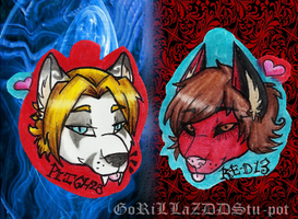 Pitch And R-E-D-13 Charms by GoRiLLaZZ-DSStu-pot