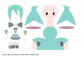 Hatsune Miku Papercraft by AliceKawaiiDesu