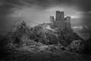 Rocca Calascio bw by not-in-my-lifetime