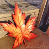 Autumn Maple wall plaque (1 of 3) by Oblivionleather76