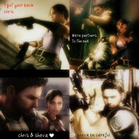 Chris Redfield and Sheva Alomar:Wallpaper by Angie010