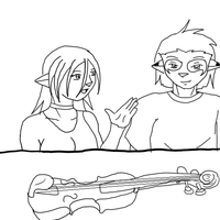 Violin Lesson by ToniSerinn