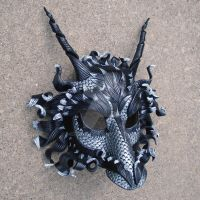 Great Pewter Dragon Mask by merimask