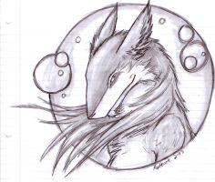 Notebook Sergal by FoxHeartWarrior