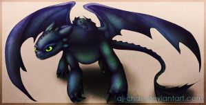 Toothless by aj-chan