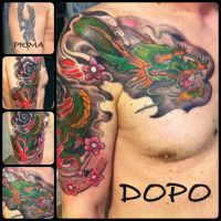 japanese dragon-cover up by pier365