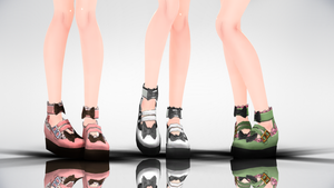 MMD Lolita platform shoes DL by yokkaulove