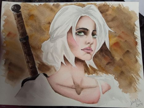 Ciri |SPEEDPAINT in the description by MarinaPlazaG