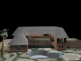 3D House WIP by Rosebud1773