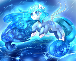 roaring waves MLP oc art trade by AquaGalaxy