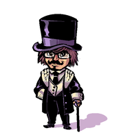 The Moustached Gentlemanne by ShwigityShwonShwei