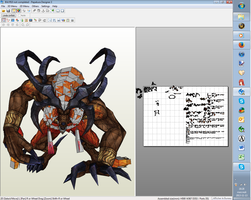 Ifrit from ffX - papercraft by panda2091