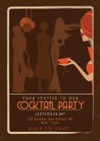 cocktail party invitation by jenleighchappell