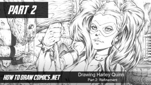 Drawing Harley Quinn Refinement Thumbnail by ClaytonBarton
