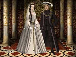 Princess Ana Maria and  the boyar Bogdan by pispispis
