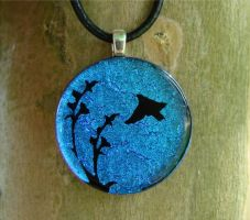 Soaring Fused Glass Pendant by FusedElegance