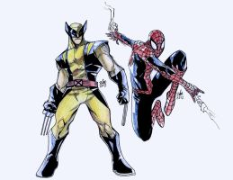 spiderwolverine by toonfed