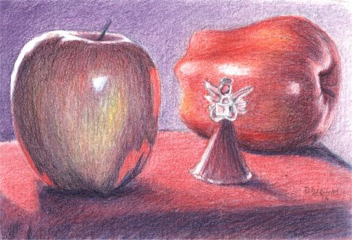 Apple angel by doma22