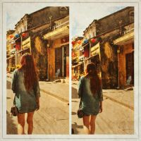 Girl in old town by LaLiar