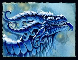 Ice Dragon by hibbary