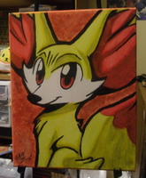 Fennekin Painting by xAshleyMx