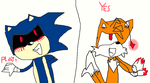 sonic exe y tails doll by fandeidol334
