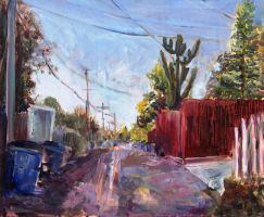 Alley with cactus by purplpixi