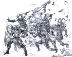 Diablo III Heroes of Sanctuary (pencils) by emmshin