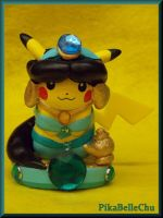 Custom Princess Jasmine Pikachu Amiibo by pikabellechu
