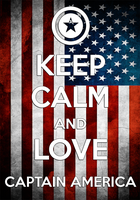 Keep Calm And Love Captain America Poster by MrAngryDog