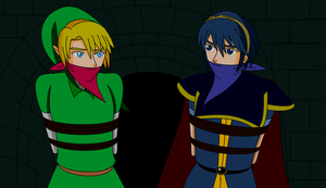 Link and Marth in HBND by ErnetGID
