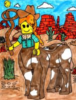Another Lego Centaur Cowgirl by SonicClone