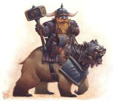 Dwarf Bear Rider by RalphHorsley
