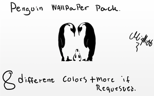 Penguin wallpaper pack by miqlliot