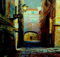 Night Walk In Old Town by eskile