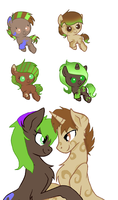 CinnamonSwirlxKali Foal Pony Adoptables: CLOSED by Blossomdash