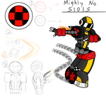 OC Mighty Number: Mighty No. 51015 (Machracer) by SnowmanEX711