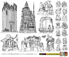 21 CASTLE and FORTRESS concept designs by STUDIOBLINKTWICE