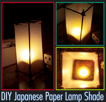 Japanese Paper Lampshade by red-owl-view